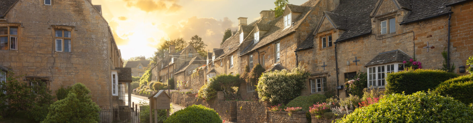 Bourton-on-the-Hill village near Moreton-in-Marsh, Cotswolds, Gloucestershire, England.